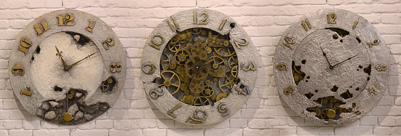 zegary loft tryptyk