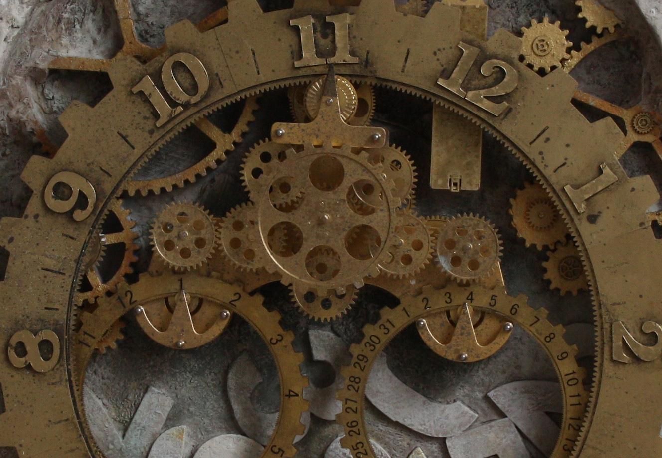 duży zegar loft