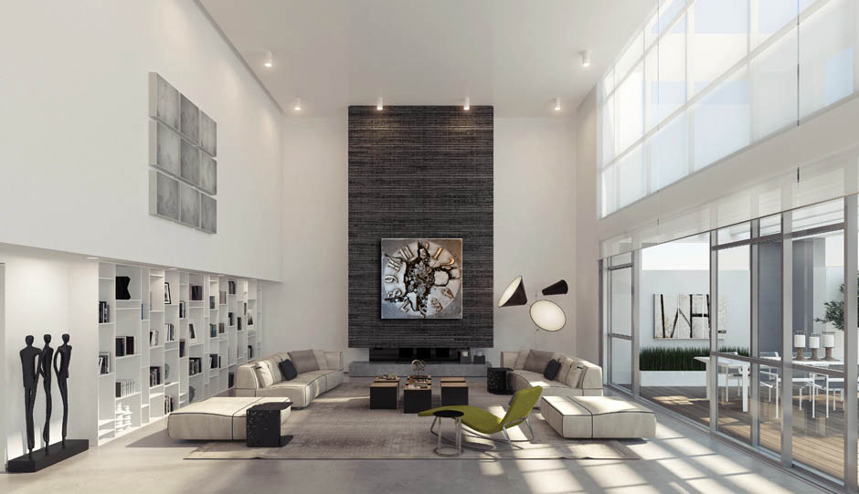 projekty nowoczesnych salonów